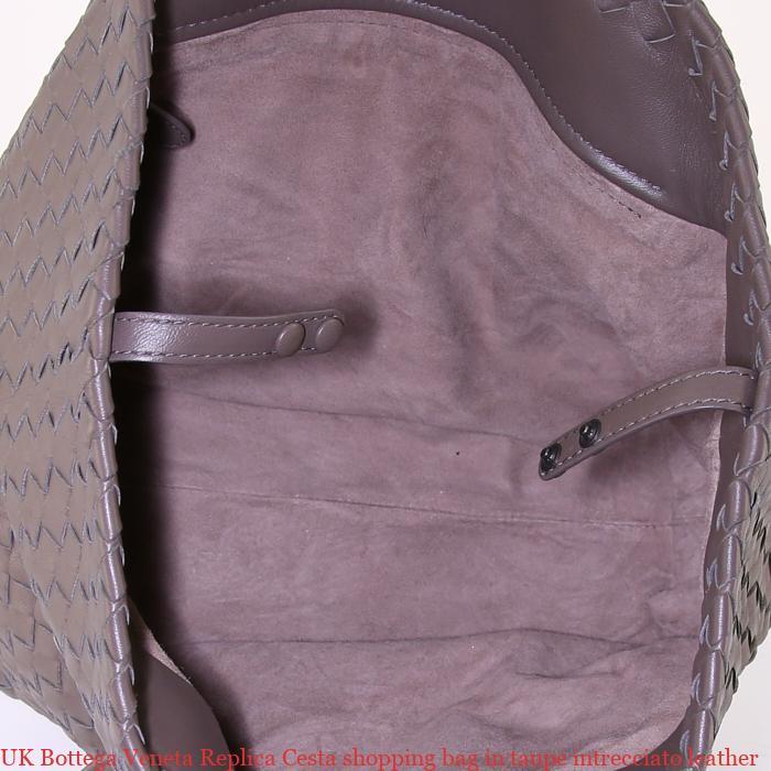 UK Bottega Veneta Replica Cesta shopping bag in taupe intrecciato leather 4d1e5027c29f3