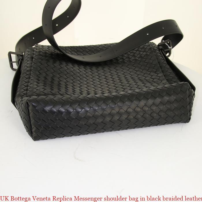 b515f4fd4f UK Bottega Veneta Replica Messenger shoulder bag in black braided leather –  7 Star Replica Handbags – Inspired Fake Bags – Replica Designer Purses