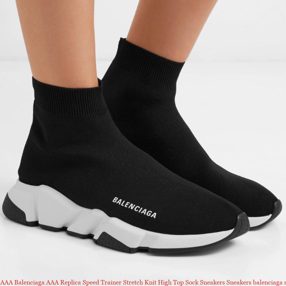 AAA Balenciaga AAA Replica Speed Trainer Stretch Knit High Top Sock Sneakers Sneakers balenciaga sneaker