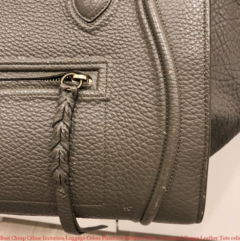 Best Cheap Céline Imitation Luggage Cabas Phantom Medium Dune Drummed Taupe  Leather Tote celine big bag replica 775bf8b53f035