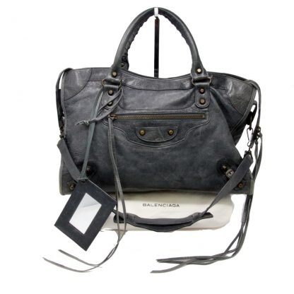 b1fd603807c Cheap Balenciaga Knockoff Ltd Edition Distressed Arena Classic City Satchel  Lambskin Shoulder Bag balenciaga bag ikea