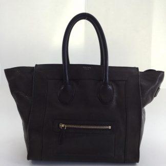 6ba9e1dec079 ... Cheap Céline AAA Replica Luggage Mini Brown Leather Tote celine replica  ...