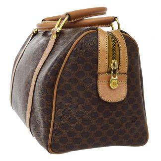 5dc3071e1abb ... Cheap Céline Fake Macadam Logos Pattern Hand Pvc Leather Brown Italy Tote  celine bag replica ...