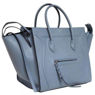 c26e6201d4 You re viewing  Designer Céline 7 Star Replica Luggage Cabas Phantom New  Runway Grained Baby Blue Leather Tote celine trio bag £2