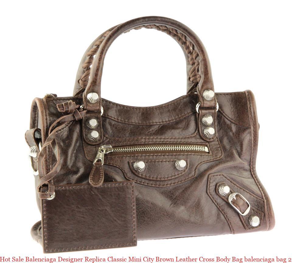 4eab6fb32e93 Hot Sale Balenciaga Designer Replica Classic Mini City Brown Leather Cross  Body Bag balenciaga bag 2019
