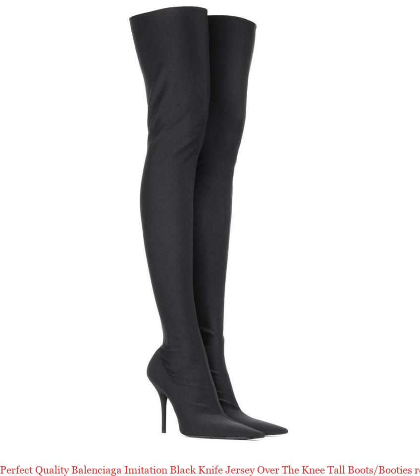 301e863266a Perfect Quality Balenciaga Imitation Black Knife Jersey Over The Knee Tall  Boots/Booties replica balenciaga triple s