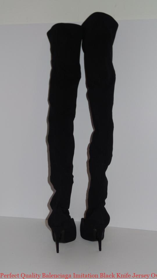 f0ac4a45b77 Perfect Quality Balenciaga Imitation Black Knife Jersey Over The Knee Tall  Boots/Booties replica balenciaga triple s