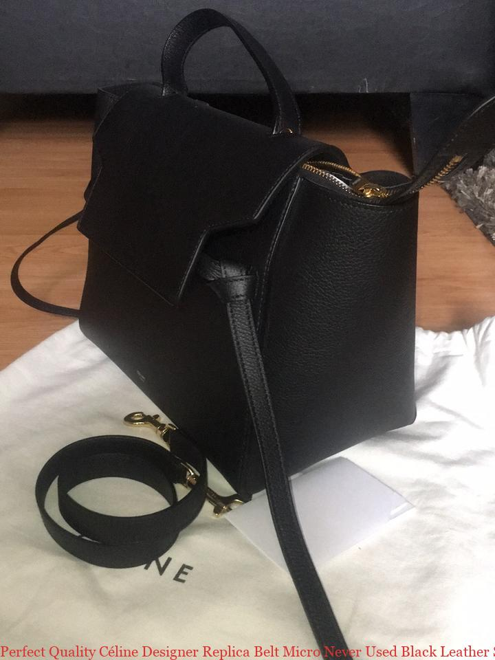 85b8e93e864a Perfect Quality Céline Designer Replica Belt Micro Never Used Black Leather  Satchel celine online shop