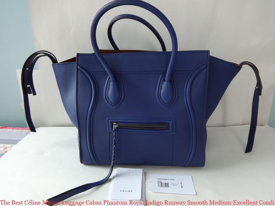9543c1dc10 The Best Céline Mirror Luggage Cabas Phantom Royal Indigo Runway Smooth  Medium Excellent Condition Blue Leather Tote celine