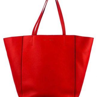 a18166bd2 The factory direct Céline Fake Luggage Cabas Phantom Classic Box Trapeze  Cabas Grained Calfskin Vermillion Red Leather Tote celine handbag