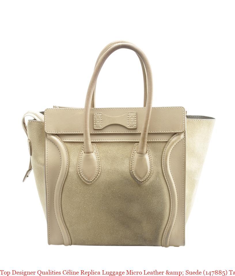 f67115a88f09 Top Designer Qualities Céline Replica Luggage Micro Leather   Suede  (147885) Tan Leatherxsuede Tote celine bag replica
