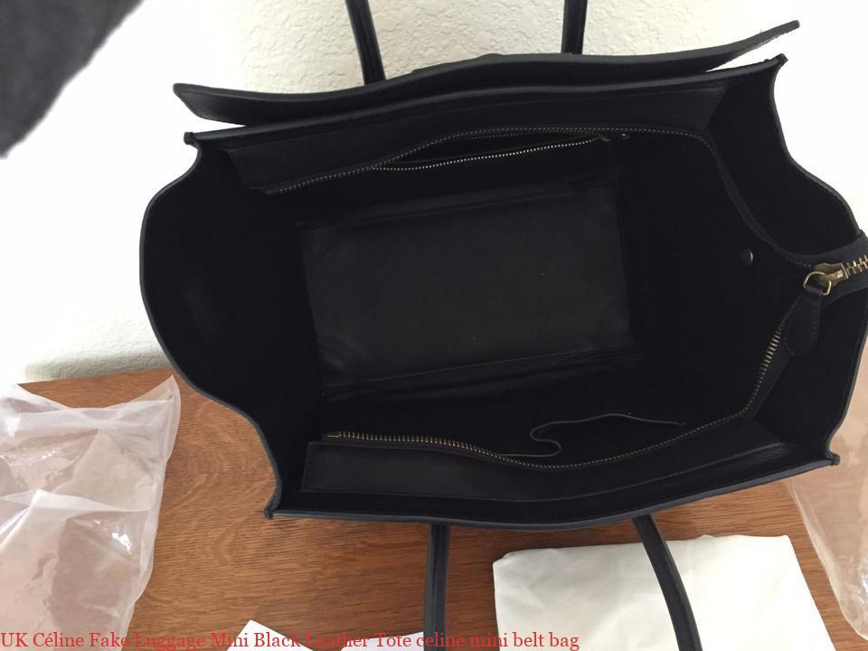2a0238fab5a2 UK Céline Fake Luggage Mini Black Leather Tote celine mini belt bag ...