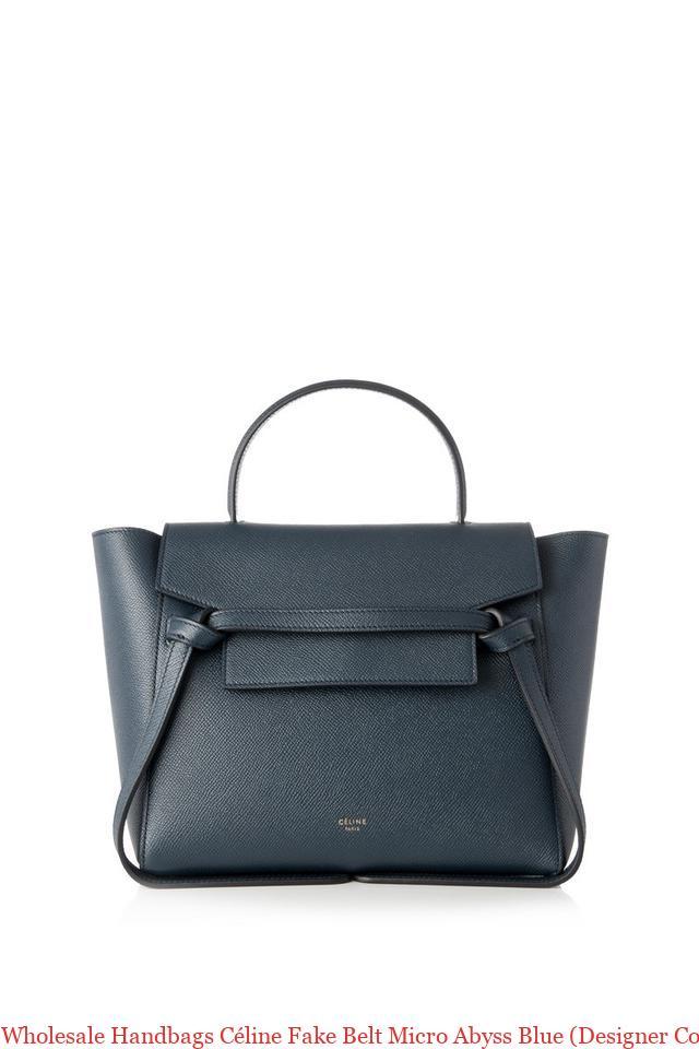 6ec1d87c54cc Wholesale Handbags Céline Fake Belt Micro Abyss Blue (Designer Colour) Tote celine  phantom bag